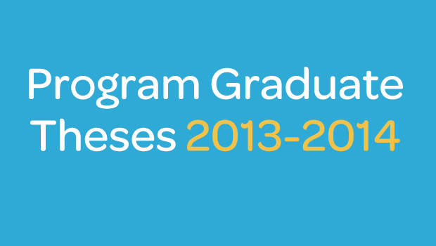 Canadian Speech-Language Pathology and Audiology Program Graduate Theses 2013-2014